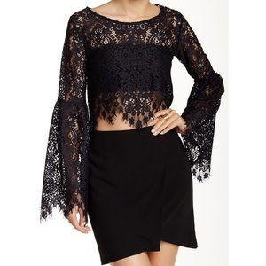 For Love and Lemons Vika Lace Crop